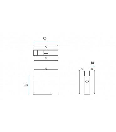 Fixation d'angle pour imposte en verre