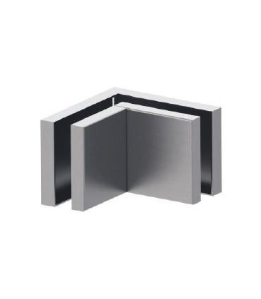 Fixation pour deux volumes en verre à 90°