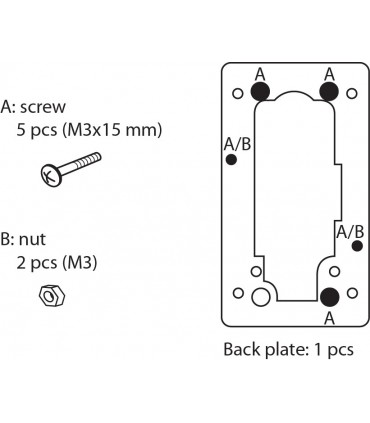 Contreplaque pour serrure à came série M237