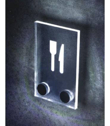 Plots de fixation pour signalétique lumineuse par LED