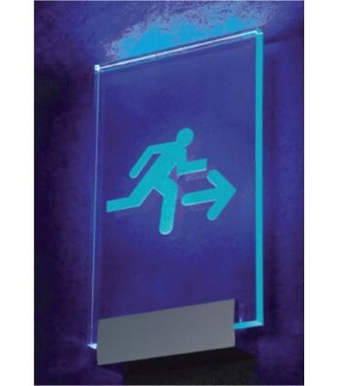 Rail de fixation pour signalétique lumineuse par LED