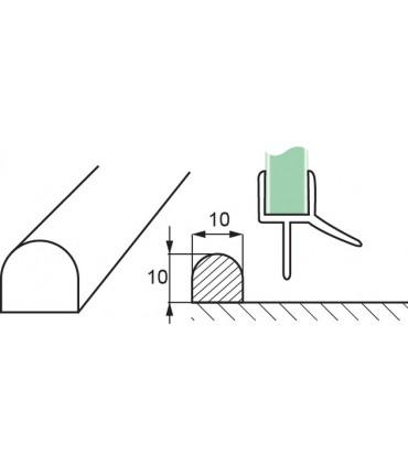 Profil de seuil en polycarbonate transparent à coller sur le receveur de douche
