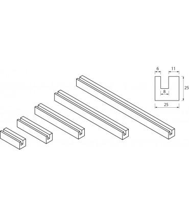 Profil de fixation carré pour signalétique lumineuse par LED