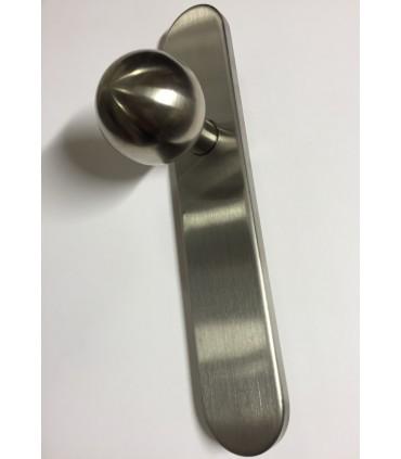 Poignée bouton fixe rond 50 mm inox brossé
