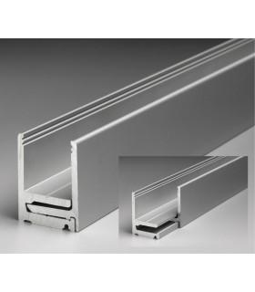 Profil aluminium avec parclose 40.1 x 30.5 x 40.1 mm série Super Profix 3030