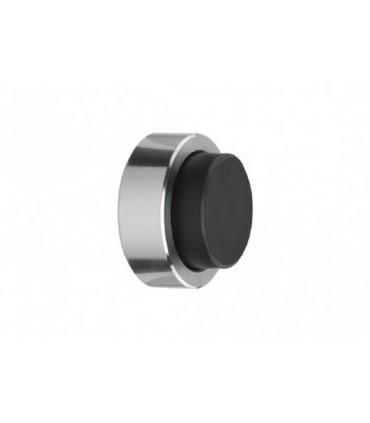 Butée inox ronde 35 mm à coller sur porte en verre