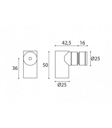 Butée arrêt magnétique inox pour porte en bois