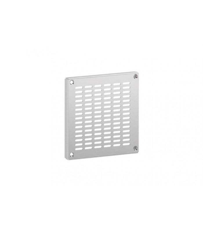 Grilles de ventilation ou d 39 a ration en inox avec des for Porte avec grille de ventilation