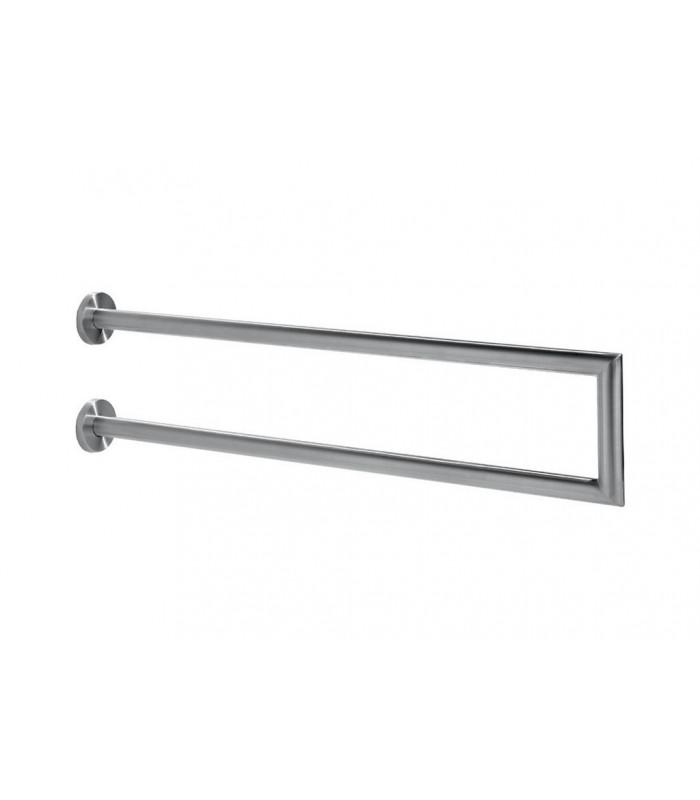 Porte serviette double vertical série Angulo