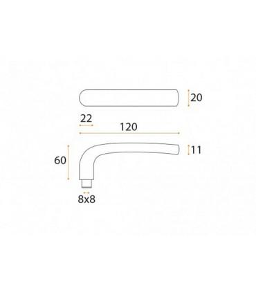 Paire de poignée béquille série J68 par JNF
