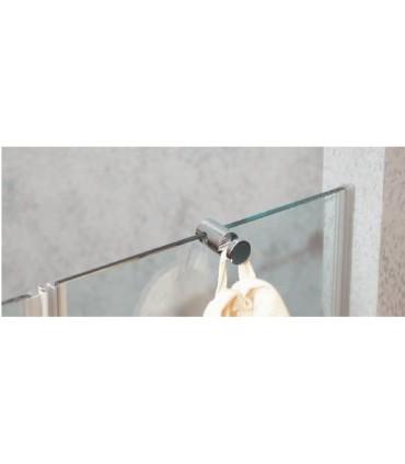 Patère en laiton massif pour cloison de cabine de douche en verre