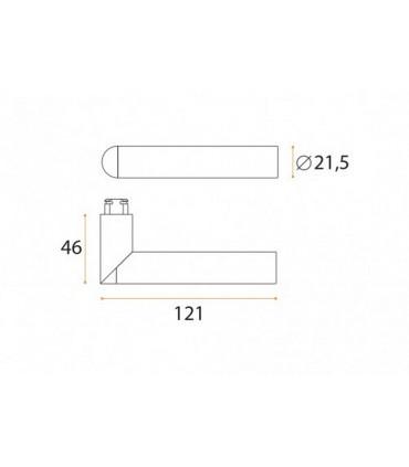 Poignée béquille série Link teflon