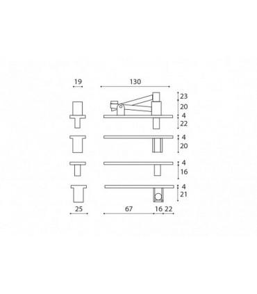 Kit pivot pour porte double action en bois maxi 100 kg
