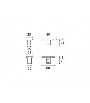 Pivot de sol pour porte double action en bois poids maxi 200 kg