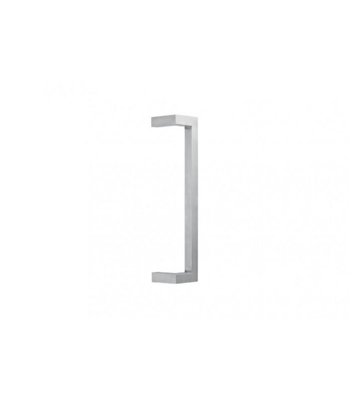 Poignée angulaire contrecoudée tube inox carré