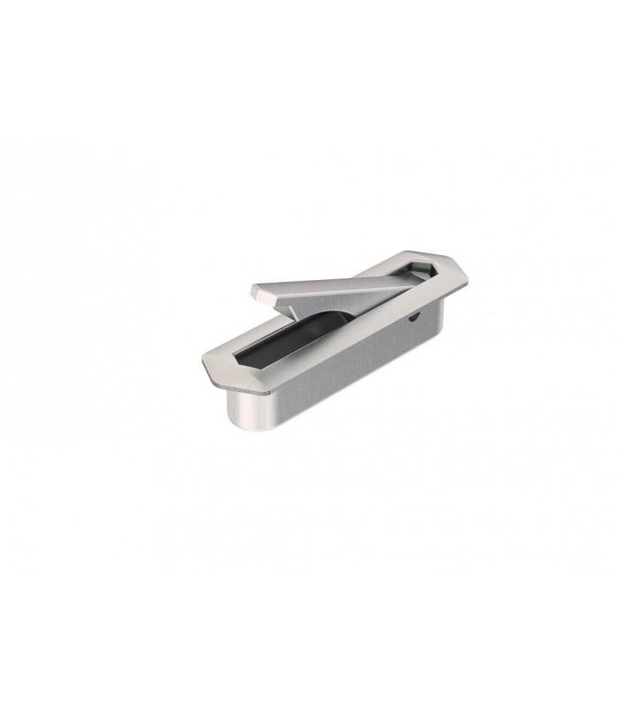 Poign e bouton tirette encastrable pour tiroir ou placard - Poignee de porte coulissante encastrable ...