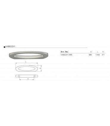 Poignée anneau plate courbe technique