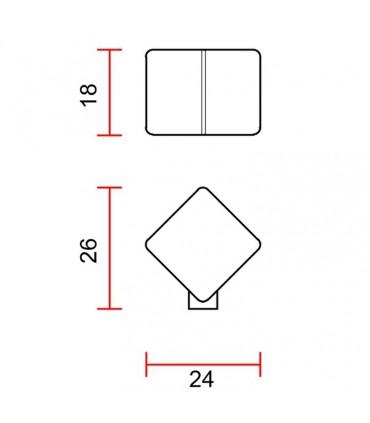 Poignée bouton de meuble série cube 340