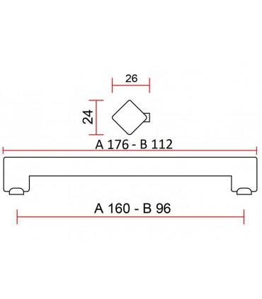 Poignée de meuble série cube 3340
