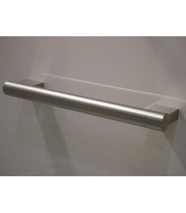 Poignée de meuble ronde sur embase rectangulaire