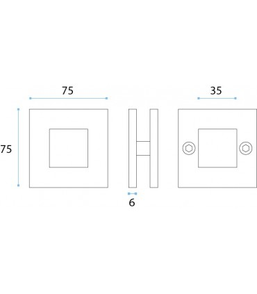Poignée série Plane carrée