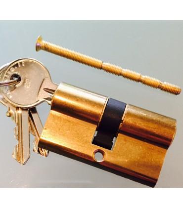Cylindre Européen court 54 mm double entrée clé / clé