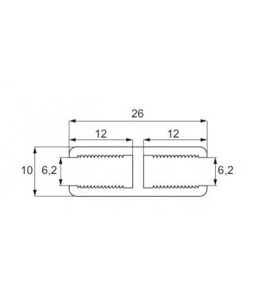 Profil d'alignement verre sur verre à 180°
