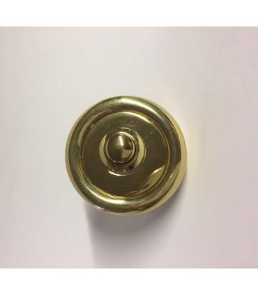 Bouton de sonnette rond avec fixation invisible