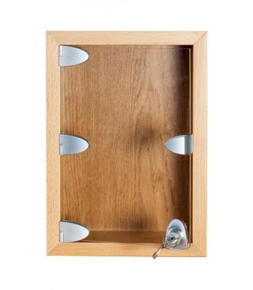 Poignée simple forme arrondie pour porte de vitrine en verre