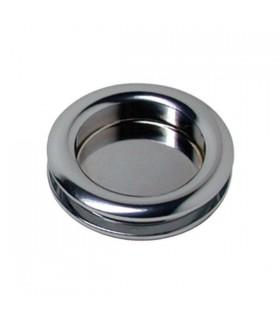 Poignée anneau borgne pour porte coulissante en verre