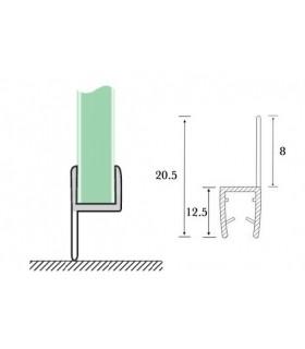 Joint d'étanchéité bas de porte lèvre déportée série S.5702