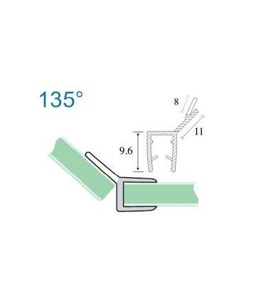 Joint d'étanchéité verre sur verre à 135° série S.5703