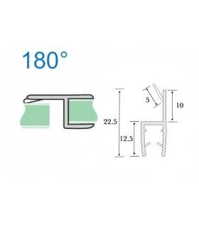 Joint d'étanchéité verre sur verre avec butée à 180° série S.5706
