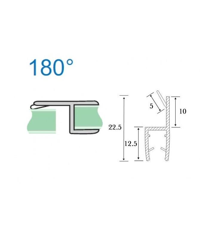 joint d 39 tanch it but e verre sur verre 180 pour cabine de douche. Black Bedroom Furniture Sets. Home Design Ideas