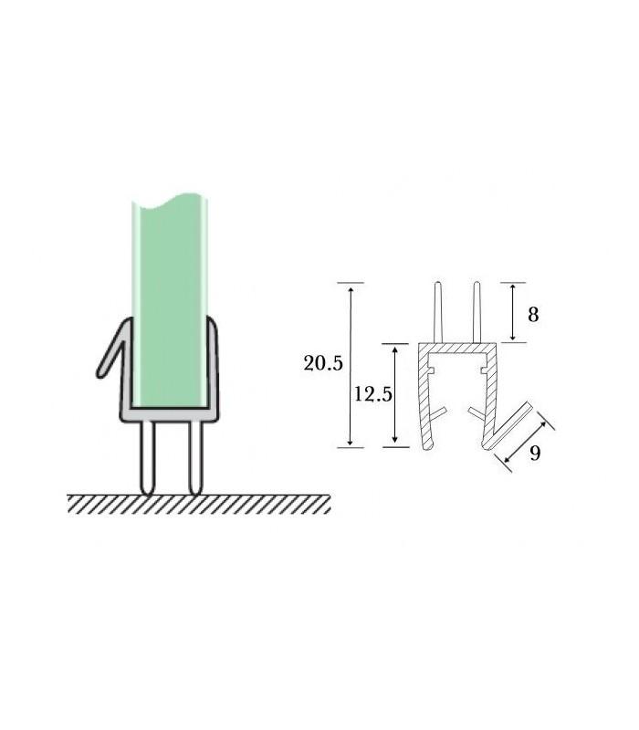 joint d 39 tanch it bas de porte triple l vre pour cabine de douche. Black Bedroom Furniture Sets. Home Design Ideas