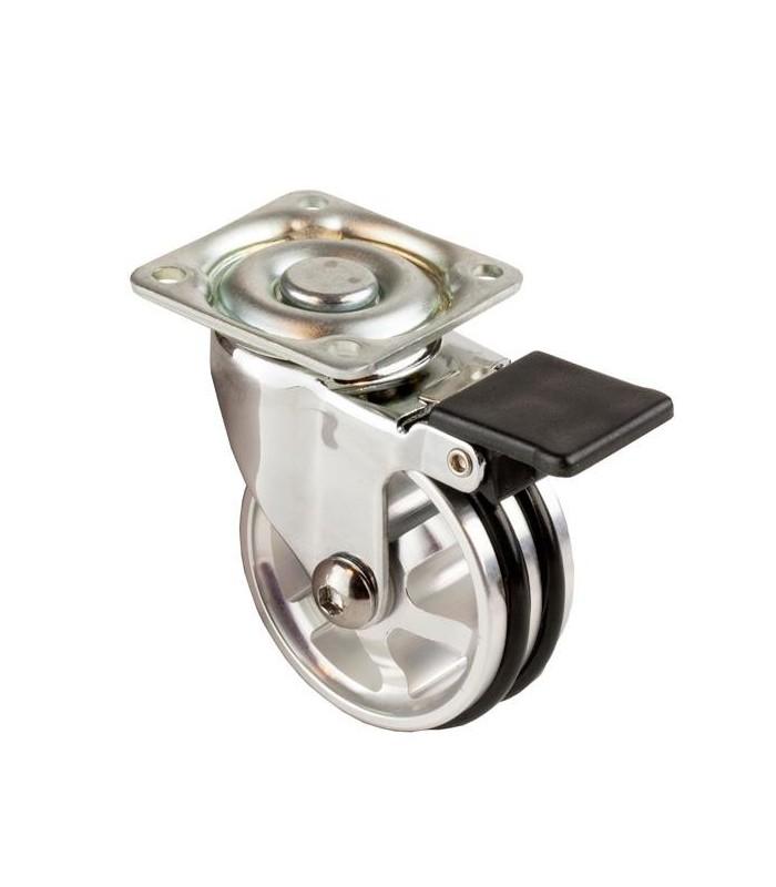 Roulette design aluminium anodisé brillant