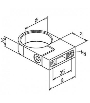 Bride de fixation pour tube Ø 42.4 mm