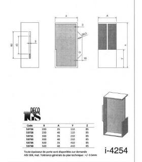 Poignée à encastrer série Did.4254XL pour porte en bois
