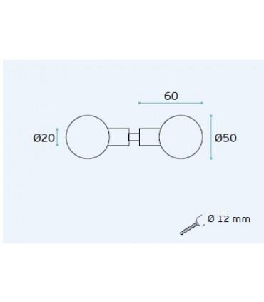 Poignée bouton rond diamètre 50 mm