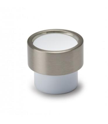 Poignée bouton série Piston blanc
