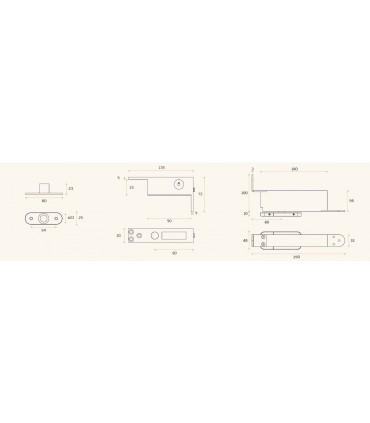 Kit pivot pour porte double action en bois poids maxi 100 kg