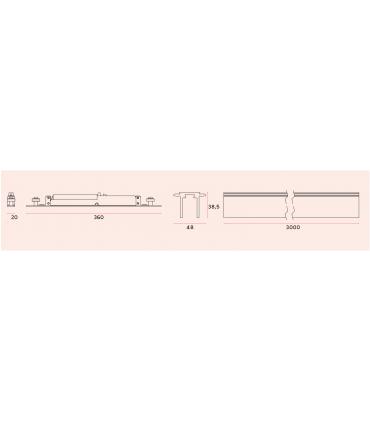 Rail de guidage haut pour porte en bois