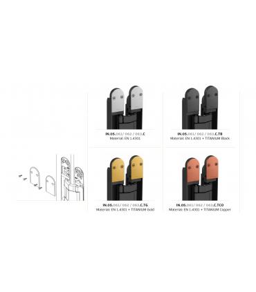 Set de 4 capots de finition pour paumelle Coplan