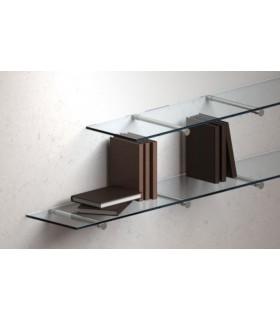 Support tubulaire en inox pour étagères verre ou bois