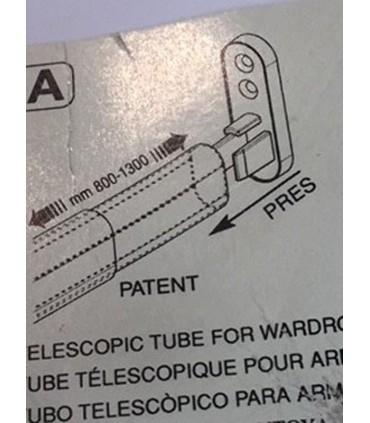 Tube de penderie télescopique