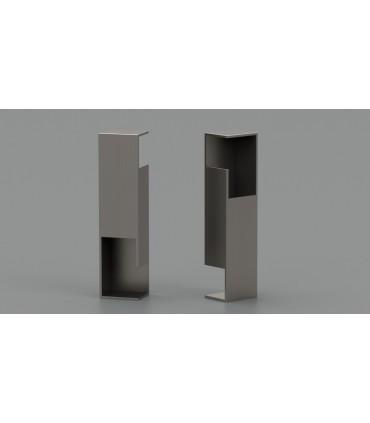 Poignée à encastrer série Did.4257 pour porte en bois