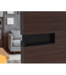 Poignée à encastrer noir mat série I.4258 pour porte en bois