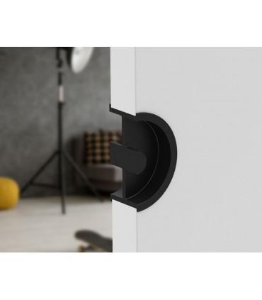 Poignée à encastrer série Did.3250 noire mat pour porte en bois