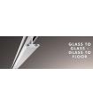 Profil Glass to glass montage sur panneau en verre sans silicone