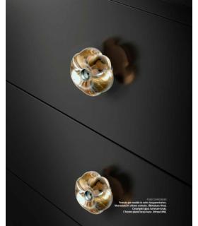 Poignée bouton décoratif en verre série Daisy
